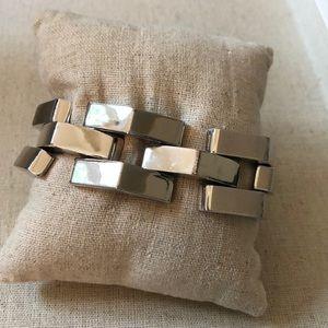 Silver chunky bracelet
